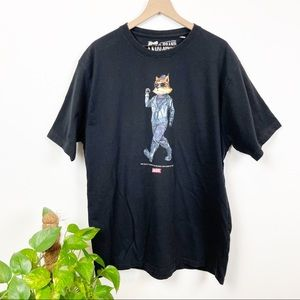 AKOO Brand Fox Graphic T Shirt